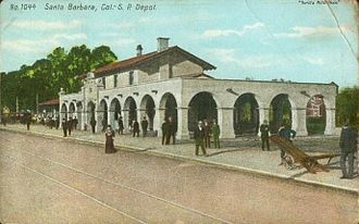 National Register of Historic Places architectural style categories - Santa Barbara station, in Mission Revival style.