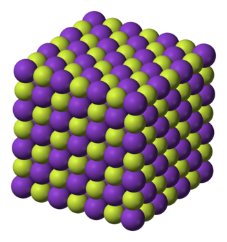 Potassium fluoride - Image: Potassium fluoride 3D ionic