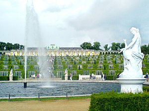 Potsdam, Germany: Sanssouci Palace with vineya...