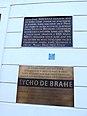 Praha, Nový svět, pamětní desky Tycho de Brahe.jpg