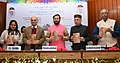 """Prakash Javadekar releasing the publication at the function """"Culture of Reading and Nation Building Challenges in the Digital Age"""" – New Delhi World Book Fair 2017, in New Delhi (1).jpg"""