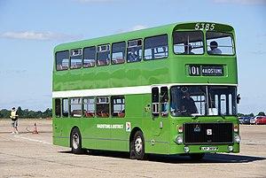 Preserved Maidstone & District bus 5385 (LKP 385P) 1975 Volvo Ailsa B55 Alexander AV, 2010 North Weald bus rally uncropped.jpg