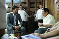 President Duterte meets with Senator Pacquiao at the Study Room of Malacañan Palace 080116.jpg