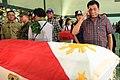 President Rodrigo R. Duterte salutes a soldier slain in an Abu Sayyaf encounter in Sulu.jpg