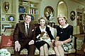 President Ronald Reagan, Nancy Reagan, and Rex in the residence during an interview with Barbara Walters.jpg