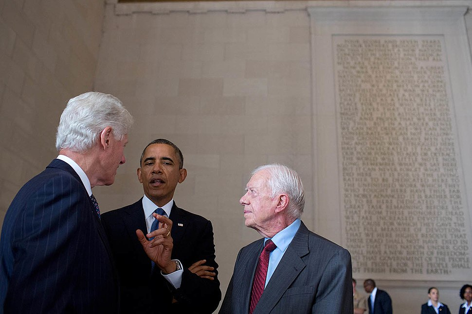 Presidents Obama, Clinton, and Carter