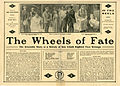 Press sheet for THE WHEELS OF FATE, 1913 (Page 1).jpg