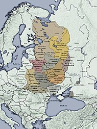 Map of the Kievan Rus'