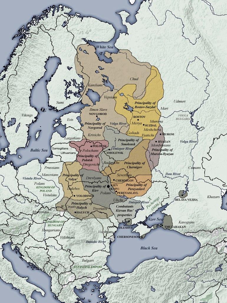 Principalities of Kievan Rus' (1054-1132)