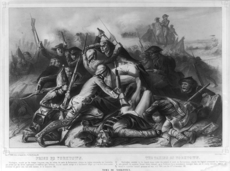 File:Prise de Yorktown, Lithographie de Turgis à Paris.tif