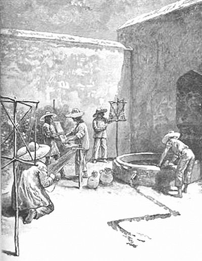 Prisoners Weaving Sashes At Cholula - Pg-217.jpg