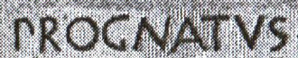 R - The word prognatus as written on the Sarcophagus of Lucius Cornelius Scipio Barbatus (280 BC) reveals the full development of the Latin R by that time; the letter P at the same time still retains its archaic shape distinguishing it from Greek or Old Italic rho.