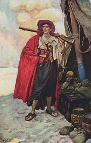 """Buccaneer of the Caribbean"" from Howard Pyle's Book of Pirates"