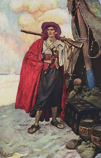 Howard Pyle - Buccaneer of the Caribbean, from Howard Pyle's Book of Pirates