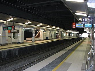 Fortitude Valley, Queensland - Tracks and platforms at Fortitude Valley railway station