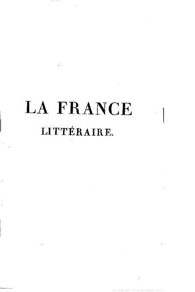 File:Quérard - La France littéraire, t. 6, 1834.djvu
