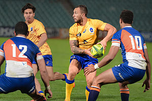 Quade Cooper - Cooper Playing for Brisbane City in the National Rugby Championship