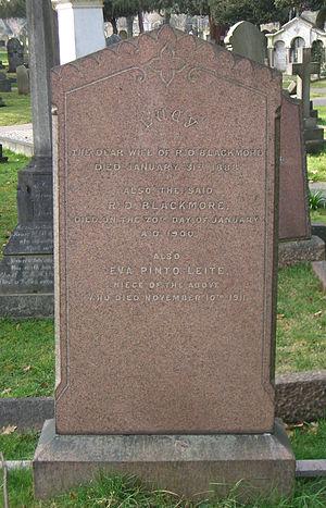 R. D. Blackmore - Blackmore family grave in Teddington Cemetery