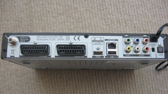 Freesat - Reverse of a Humax Freesat HD box