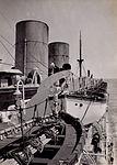 RMS Strathnaver lifeboats in davits, 1934.jpg