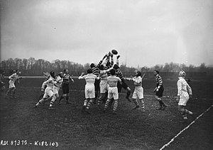 Leicester Tigers - Leicester's match against Racing club de France in February 1923