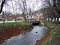 Radotín, Radotínský potok, most do ulice Pod Klapicí.jpg