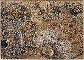 Rajastan, umed singh di hota a caccia di leoni, corte di rajput a kota, 1785-90 ca.jpg