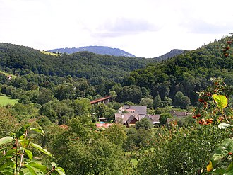 Rakousy - View of the village and surroundings