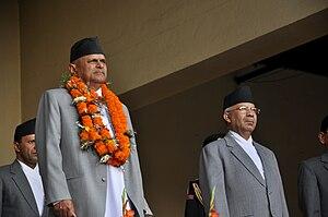 Madhav Kumar Nepal - Nepal with President Ram Baran Yadav