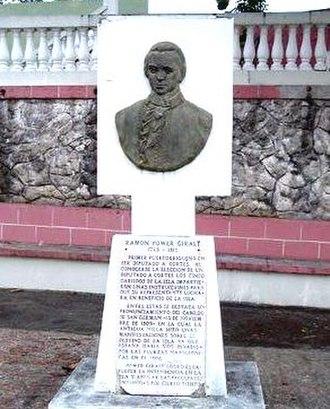 White Puerto Ricans - Plaque honoring Ramon Power y Giralt in San German, Puerto Rico