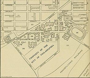 Franklin square philadelphia wikipedia layout of the 5 squares blueprint malvernweather Choice Image