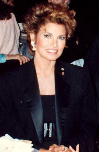 Welch at the 39th Emmy Awards Governor's Ball in September 1987 Raquel Welch.jpg