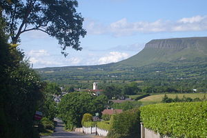 Rathcormack - Rathcormack village with Ben Bulben in the background