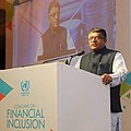 Ravi Shankar Prasad addressing at the valedictory session of the Conclave on Financial Inclusion, organised by the United Nations in India, in New Delhi (1).jpg