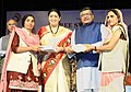 Ravi Shankar Prasad and the Union Minister for Textiles and Information & Broadcasting, Smt. Smriti Irani felicitated the Women VLEs on the basis of performance (1).jpg