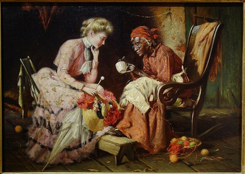 File:Reading Tea Leaves by Harry Herman Roseland, 1906, oil on canvas - New Britain Museum of American Art - DSC09351.JPG