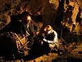 Recreation of historic blue john miners at Treak Cliff Cavern.JPG
