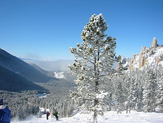 The Palisades area on the north end of the ski area at Red Lodge Mountain Resort Red Lodge Palisades.jpg
