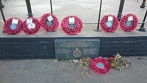 Regent's Park - Memorial to the soldiers killed in Regent's Park in the 1982 Hyde Park and Regent's Park bombings