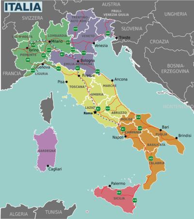 Cartina Turistica Italia.Italia Wikivoyage Guida Turistica Di Viaggio