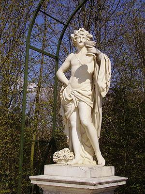 Grande Commande - Thomas Regnaudin, L'Automne sous les traits de Bacchus (the autumn represented as Bacchus), copy, cast, Versailles' gardens.