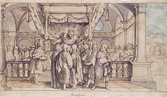 Rehoboam - The Arrogance of Rehoboam, drawing by Hans Holbein the Younger