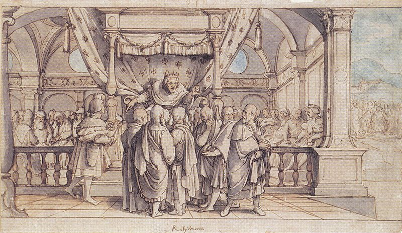 File:Rehoboam's Insolence, by Hans Holbein the Younger.jpg