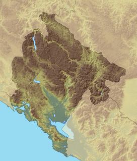 Дурмитор на мапи Црне Горе