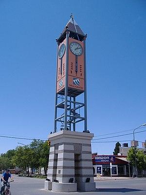 Malargüe - Image: Reloj del cincuentenario Malargüe