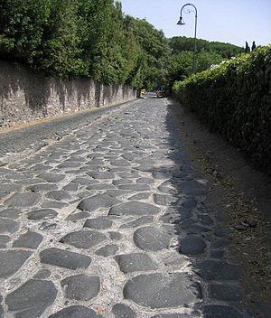 English: Remains of Via Appia, near Rome, Italy.
