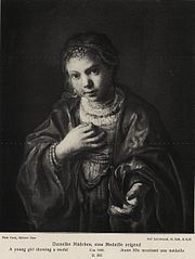 Girl with a medal