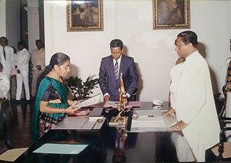 Renuka Herath - Image: Renuka Herath appointed as a Health Minister under President Ranasinghe Premadasa