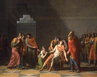 Rhadamistus - Image: Rhadamistes and Zenobia by TAILLASSON, Jean Joseph 1806