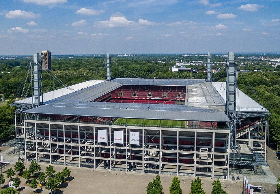 Rhein Energie Stadion Luftbild - aerial (20152327046)